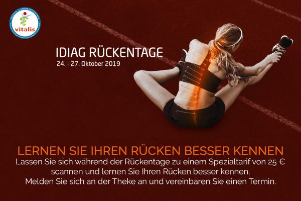 IDIAG Rückentage vom 24.-27.10.2019